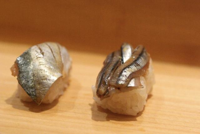 Mackerel sushi - Sanma and Kibinago
