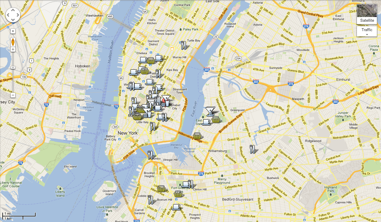 Google New York Map.New York City Restaurant Guide Fifteen Favourites Melting Butter