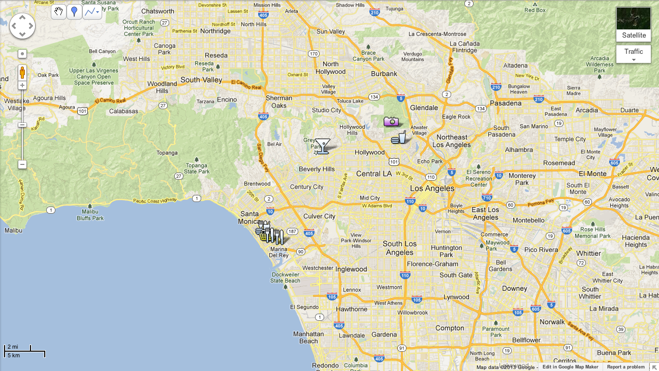 Los Angeles City Guide Embrace Your Inner LA With An Eggwhite - Los angeles map by city