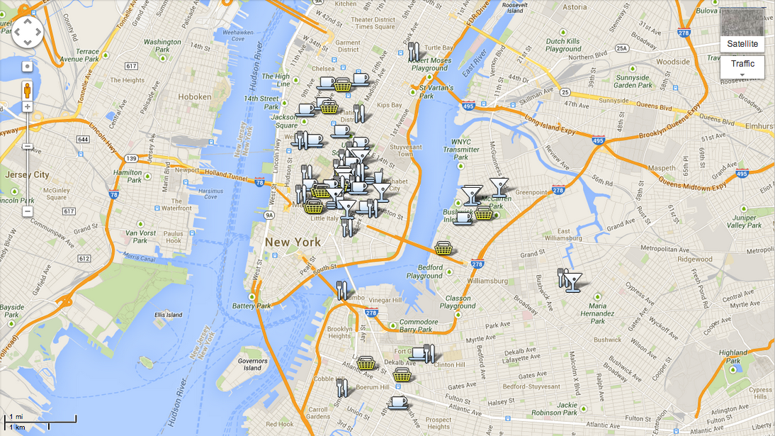 Google Map Of New York City.New York City Guide Top 10 Bars For Frequenting Melting Butter
