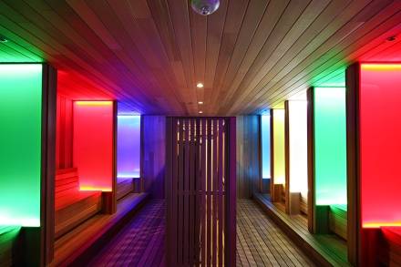 Colour Therapy Sauna at NYC Hotspot Find: Spa Castle | meltingbutter.com