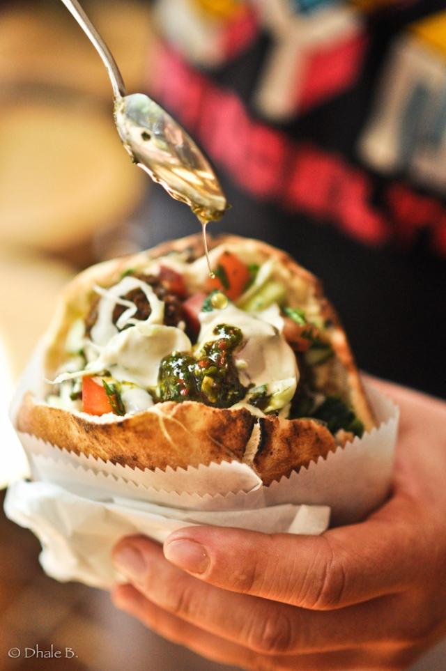 Falafel Sandwich at NYC Hotspot Find: Taïm Falafel & Smoothie Bar | meltingbutter.com