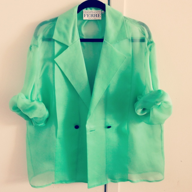 Gianfranco Ferre Double Breasted Sheer Blazer from NYC Hotspot Find: Amarcord Vintage Fashion | meltingbutter.com